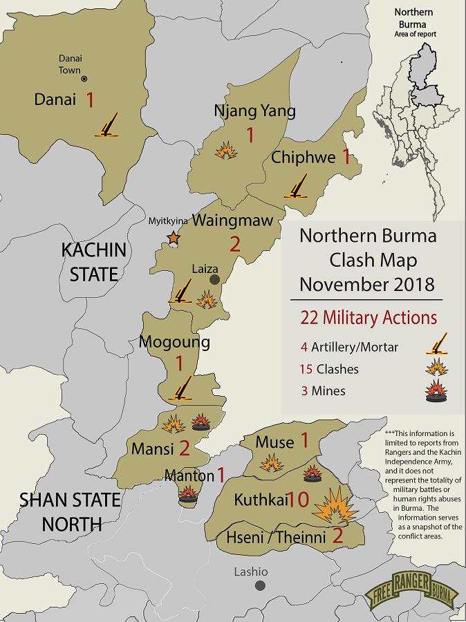 Northern Burma Clash Map November 2018-01