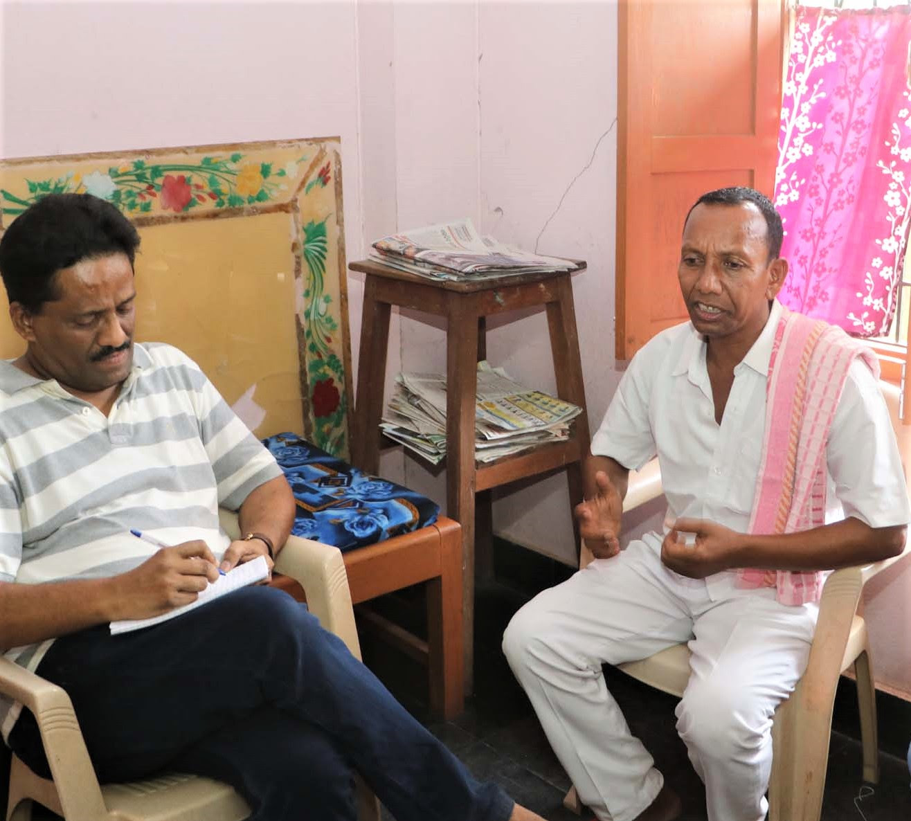 ornath Chalanseth, right, with author and journalist Anto Akkara after release in May 2019. (Morning Star News)