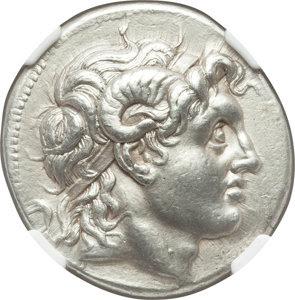 Ancients: THRACIAN KINGDOM. Lysimachus (305-281 BC). AR tetradrachm (32mm, 16.79 gm, 11h). NGC AU 5/5 - 3/5, Fine Style