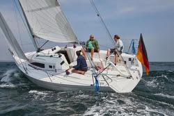 J/97E sailing upwind