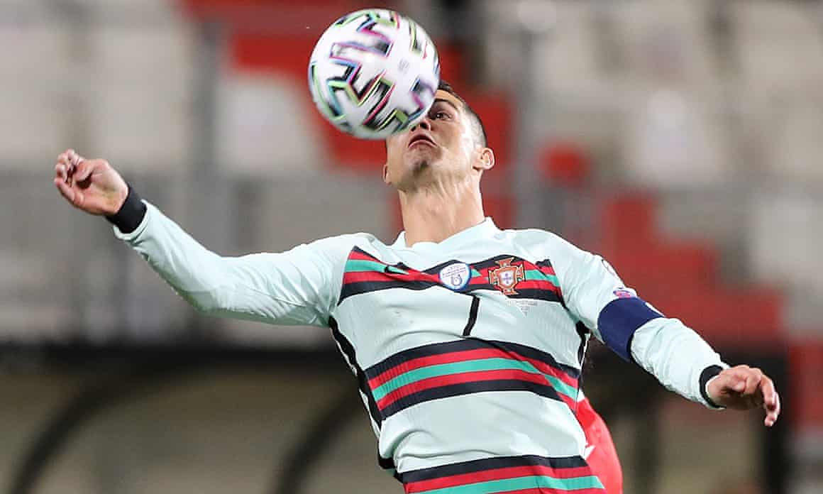 Cristiano Ronaldo in action against Luxembourg.