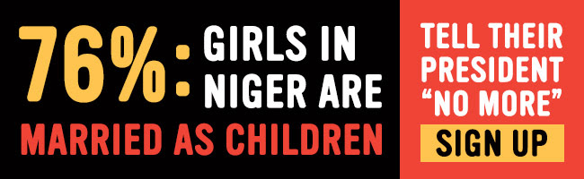 Help demand the Nigerian Government outlaw the child marriage of girls and prevent the abuse of children