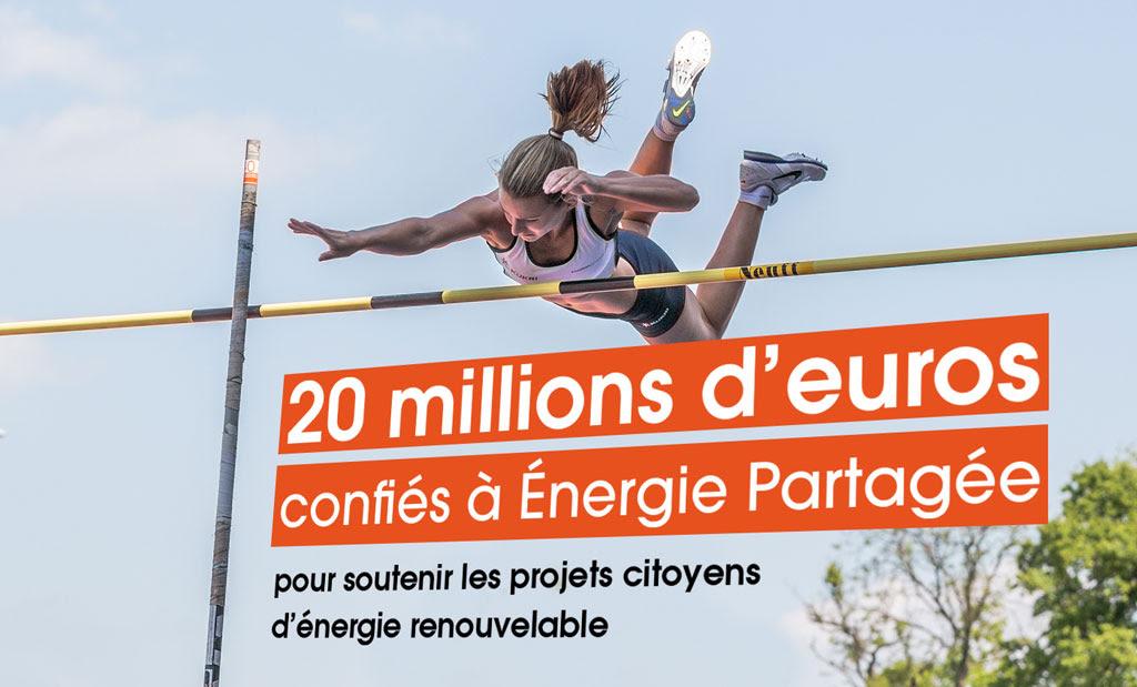 20 millions d'euros collectés depuis la création d'Énergie Partagée : le cap est franchi !