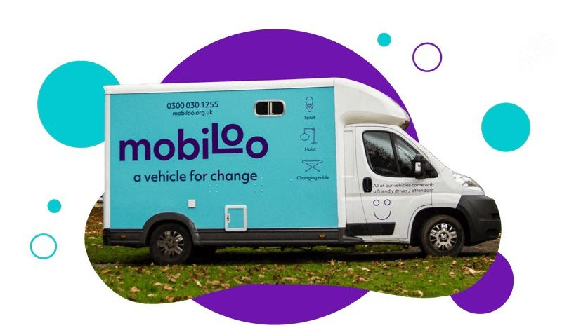 Image of the mobiloo van