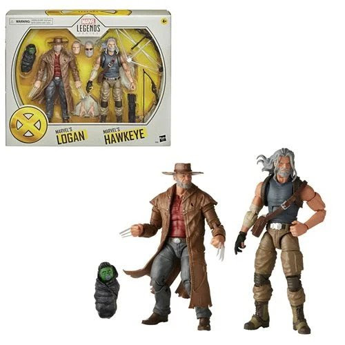 Image of X-Men Marvel Legends Hawkeye and Logan 6-Inch Action Figures
