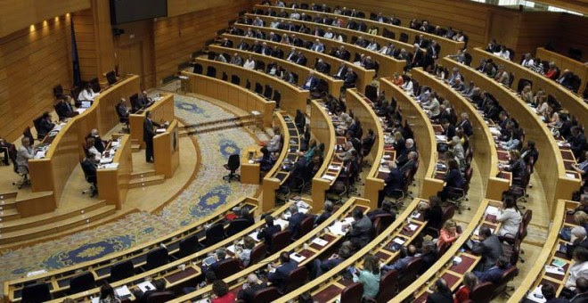 Imagen de archivo de un pleno del Senado.- EFE