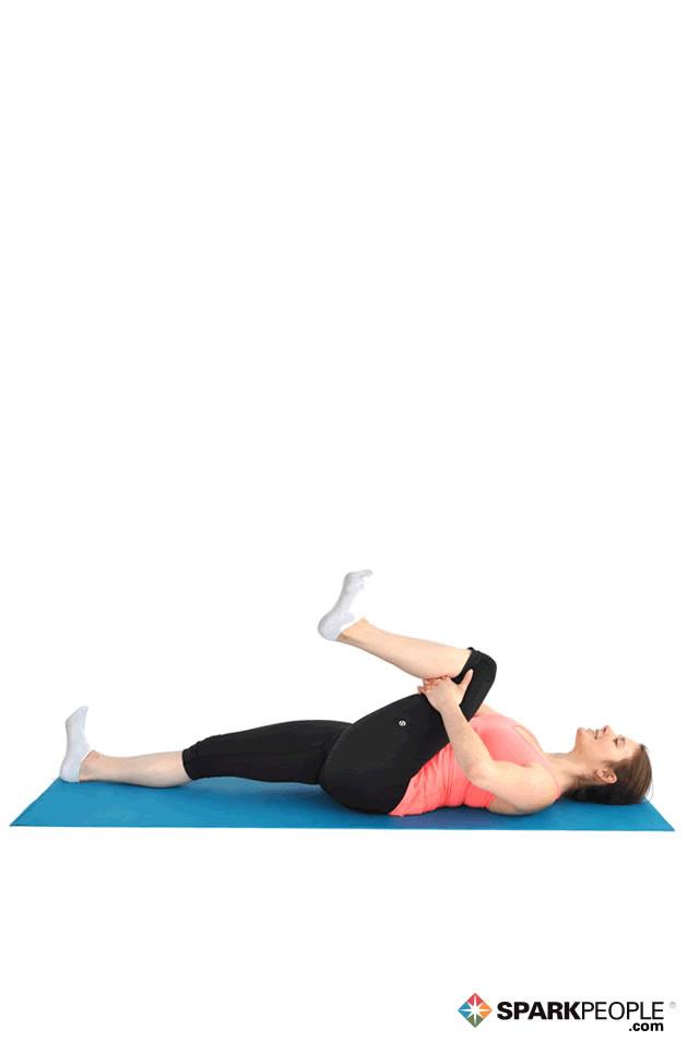 Home exercises for your back Lying-Single-Knee-Hug
