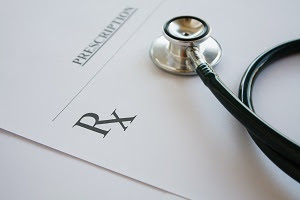 Prescription Pad & Stethoscope