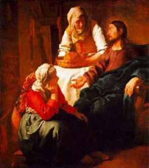 Jan Vermeer: Chrystus w domu Marii i Marty