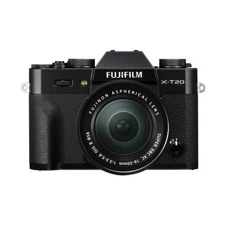X-T20 24.3MP Mirrorless Digital Camera with XC 16-50mm f/3.5-5.6 OIS II Lens, Black