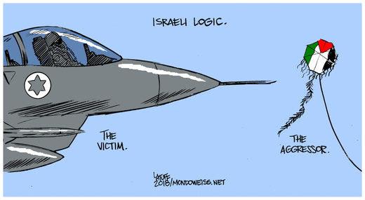 israel air force palestine kites cartoon
