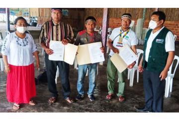 Midagri entrega títulos de propiedad a comunidades nativas de zonas fronterizas