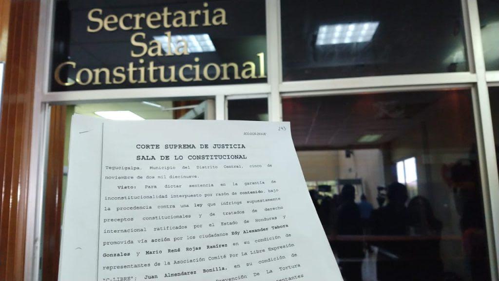 Inconstitucionlidad Ley de Secretos