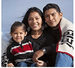 Native American Family, Father, Mother and son.