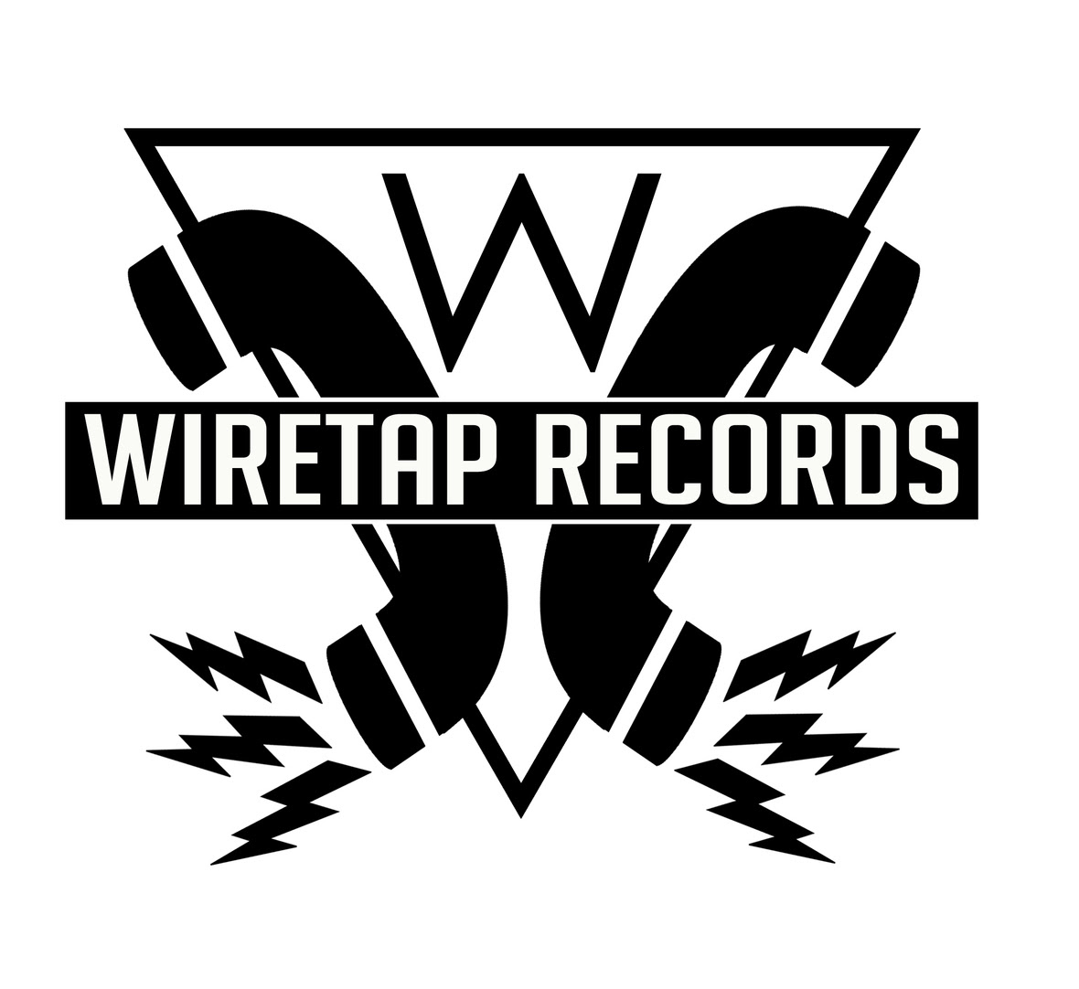wiretap records logo white