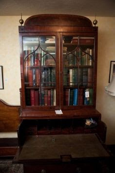 19th Century Mahogany Secretary Bookcase sold for $2050 at the MaxSold Toronto Estate Sale