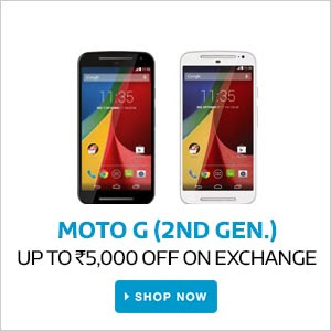 MOTO G (2nd Gen) | Upto Rs.5,000 Off