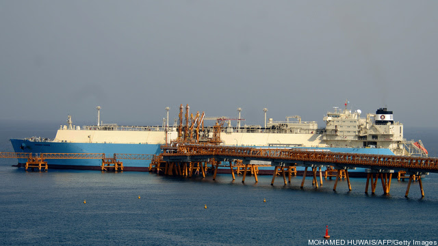 An tanker is docked on June 05, 2010 off