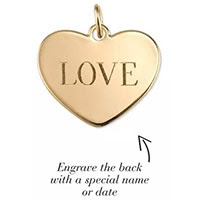 Signature Engravable Love Charm - Gold