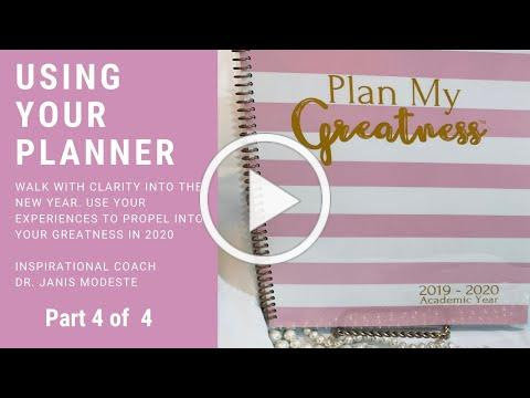 "How To Use Your ""Plan My Greatness"" Planner"