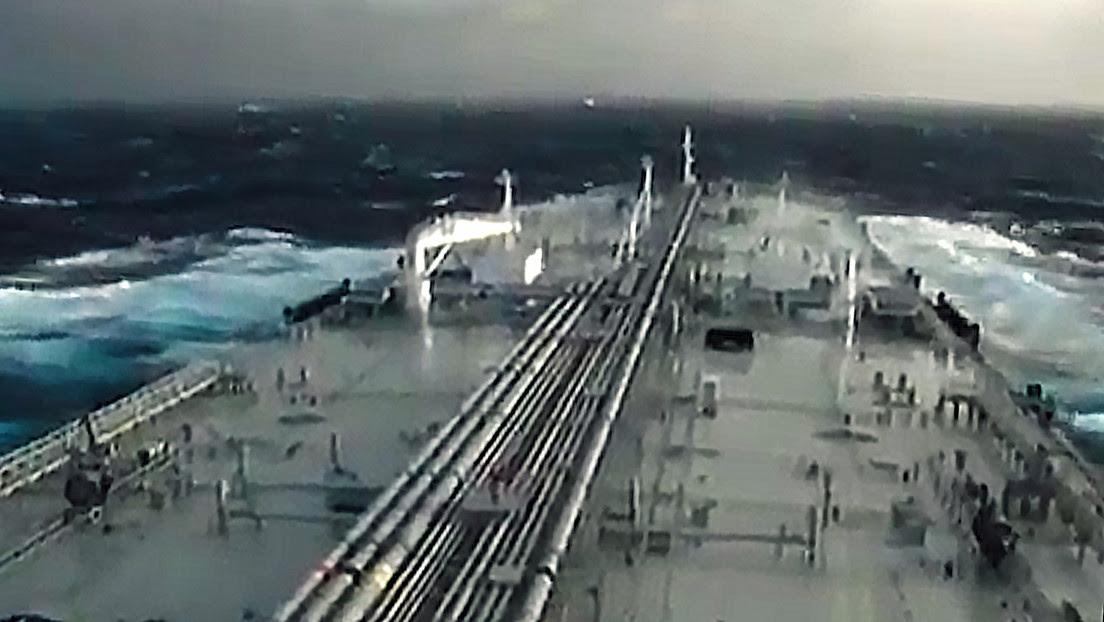 Publican un video grabado desde la cubierta del primer petrolero iraní que transporta combustible a Venezuela