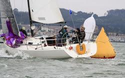 J/105 sailing Swiftsure Cup on San Francisco Bay