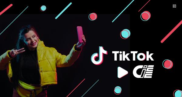 Banner com logo do TIK TOK e logo do CIEE
