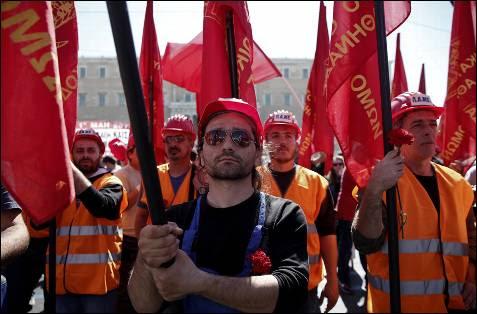 Protestas por el día del trabajador en Atenas