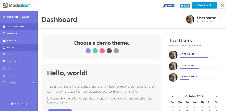 13 Giao diện Admin Bootstrap miễn phí tốt nhất 2018 - Vinh Web