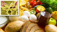 food and Salmonella closeup