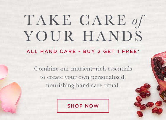 Take care of your hands. All Hand Care. Buy 2 Get 1 FREE.* In Store and Online.