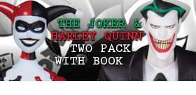 THE JOKER & HARLEY QUINN TWO PACK WITH BOOK