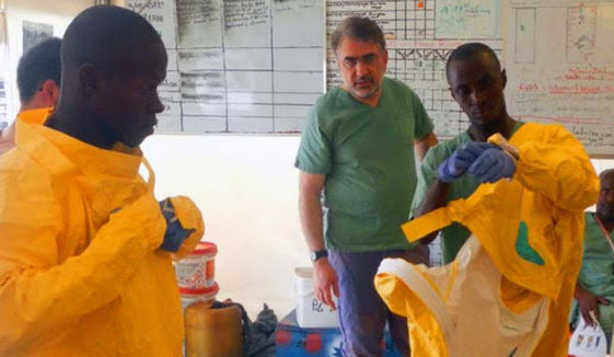 USAID's Fighting Ebola Grand Challenge team from Johns Hopkins University gained   user feedback on their redesigned personal protective suit and hood