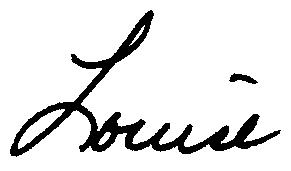 Louise's signature