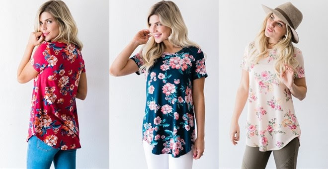 HOT!! Spring Floral Tee...