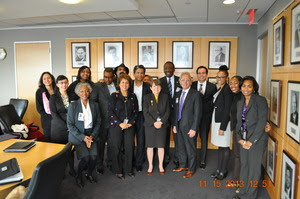 The Greenlining Coalition with Security and Exchange Commission Chair Mary Jo White.