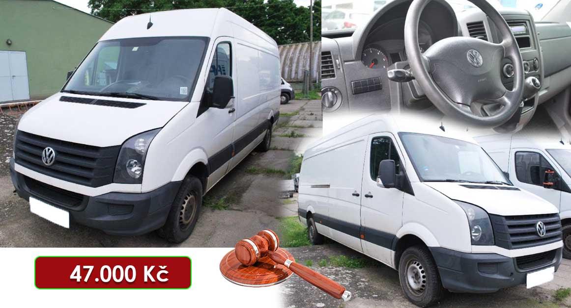 Do 23.7.2020 Aukce automobilu Volkswagen Crafter 2,0 TDI. Vyvolávací cena 47.000 Kč, ➡️ ID732376