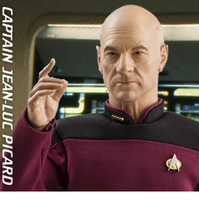 STAR TREK 1/6 SCALE CAPTAIN JEAN-LUC PICARD FIGURE