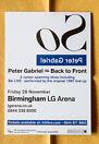 PETER GABRIEL 15x20 cm rare flyer mini poster BACK TO FRONT tour SO Genesis
