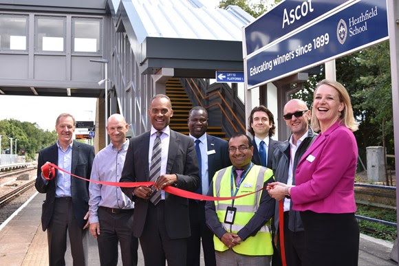Longer platforms and new, accessible footbridge: Network Rail completes Berkshire station upgrades
