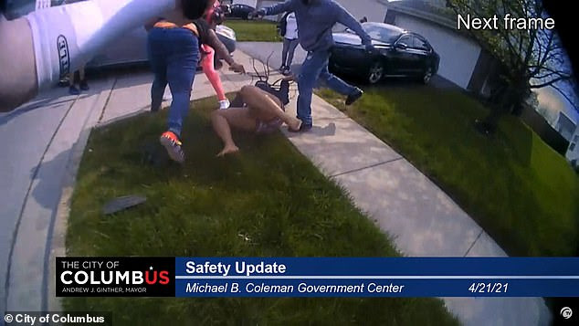 Police cam footage from Columbus