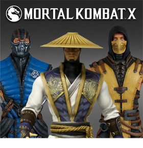 MORTAL KOMBAT X FIGURE SERIES 01 - SET, SINGLES