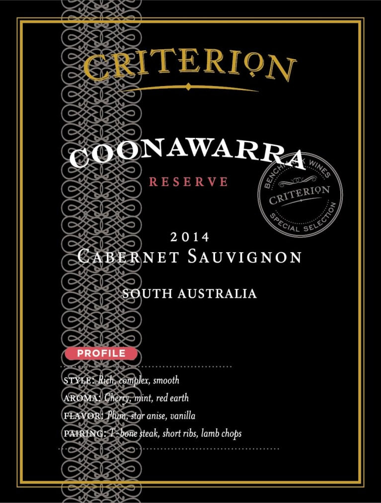 Image result for criterion coonawarra 2014 australia