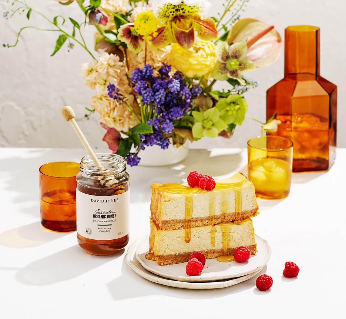 Honey Ricotta Cheesecake Slice