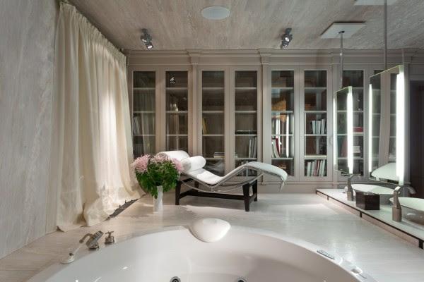 λευκό μάρμαρο-μπάνιο