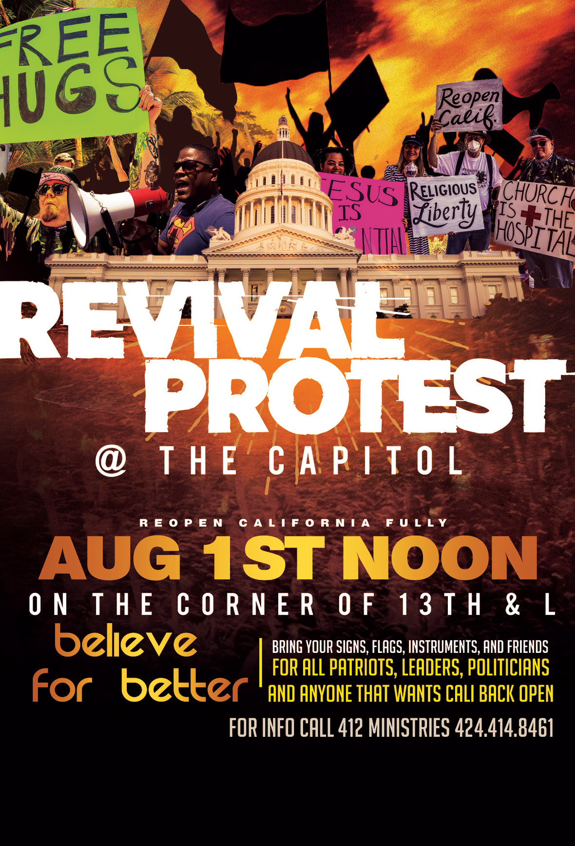 REVIVAL PROTEST with address