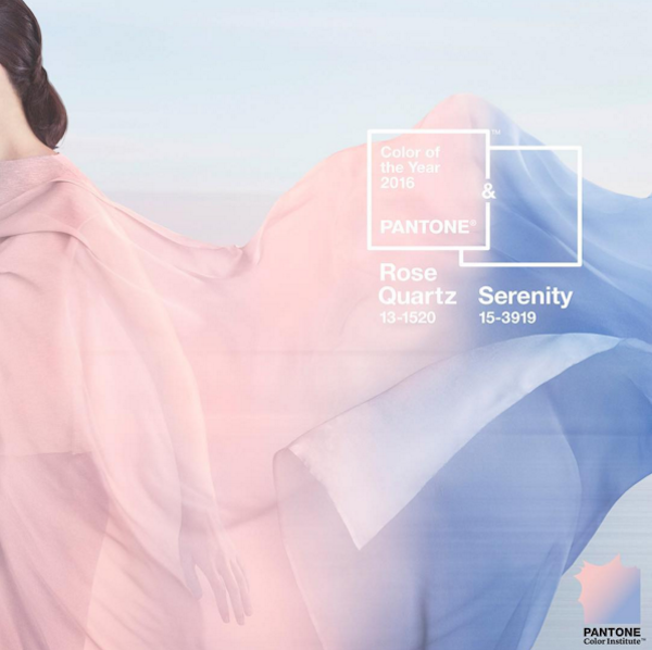 Rose Quartz and Serenity are Pantone's 2016 Colors of the Year.Photo: via @pantone Instagram.