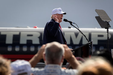 Donald Trump at a rally in Lakeland, Fla., on Wednesday.