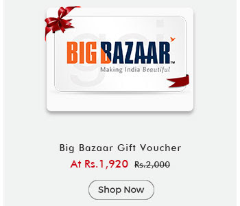Big Bazar Gift Voucher By ShopClues @ Rs.1,920