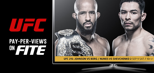 UFC 215 Johnson vs. Borg Sat Sept 9th